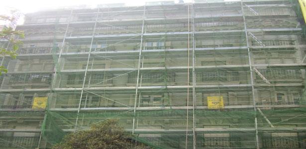 rifacimento facciate balconi palazzina a roma